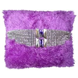 Handmade Royal crystals Cushion | Shaggy Short Pile