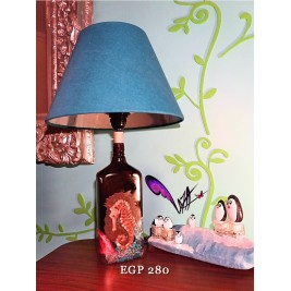 Table Lamp - Sea horse design- handmade