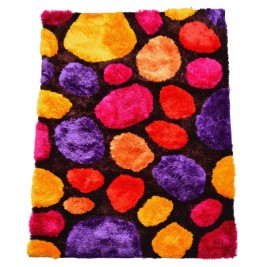 colorful circles carpet - shaggy long pile 2