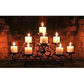 LED Canvas Small Candles Wall Painting