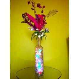Table Lamp - Flowers Vase Design - handmade