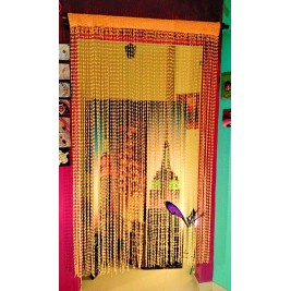 Crochet yellow handmade curtain - 135x220 CM