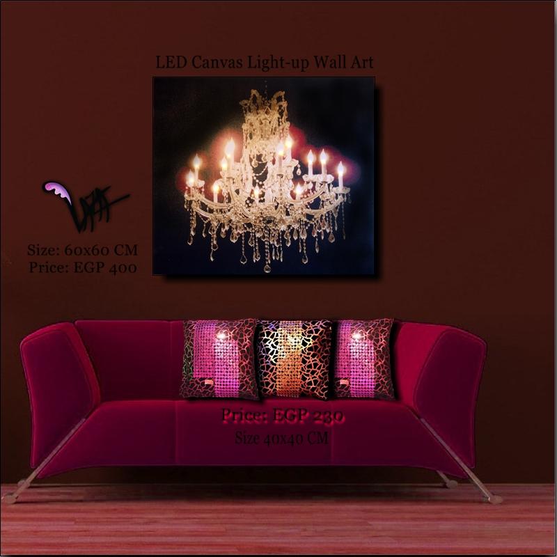 led canvas golden chandelier wall painting. Black Bedroom Furniture Sets. Home Design Ideas